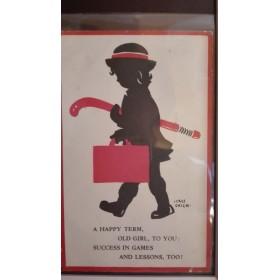 Postal Niña con Stick 1954