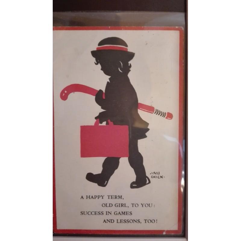 Postal Niña con Stick 1958