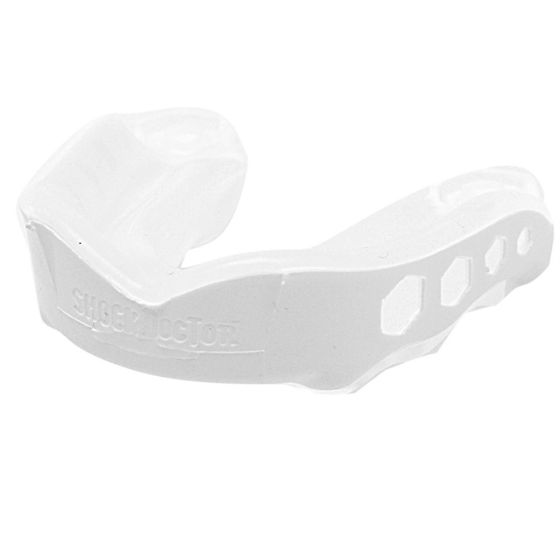 Protector Bucal Hockey Shock Doctor Gel Max Blanco