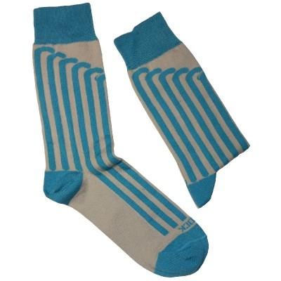 Calcetines con motivos de Hockey Yeock Vertical Azul