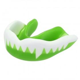 Protector Bucal para Hockey Colmillos Verde-Blanco