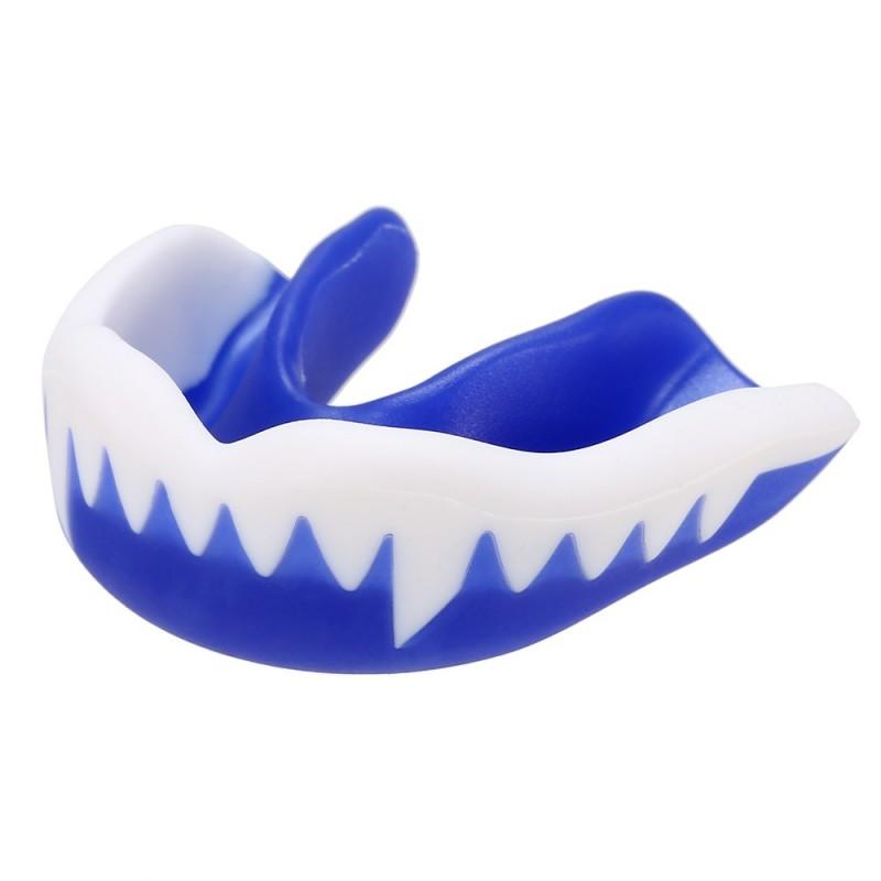Protector Bucal para Hockey Colmillos Azul-Blanco
