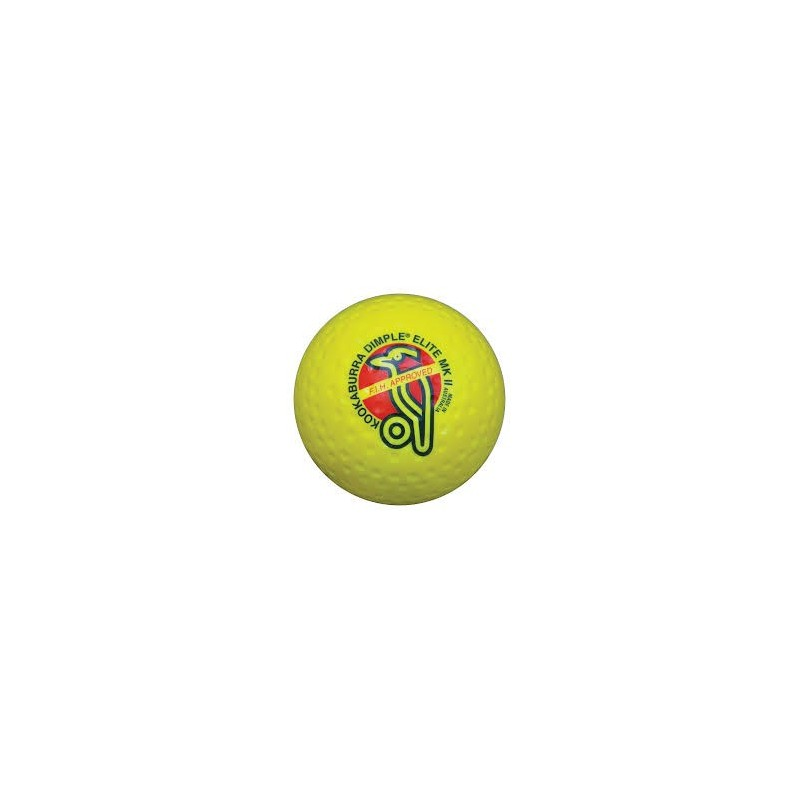 Kookaburra Ball Dimpled Elite Yellow