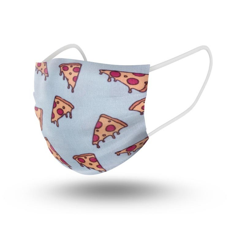 Mascarilla Niños Reutilizable Pizza Talla 3-5