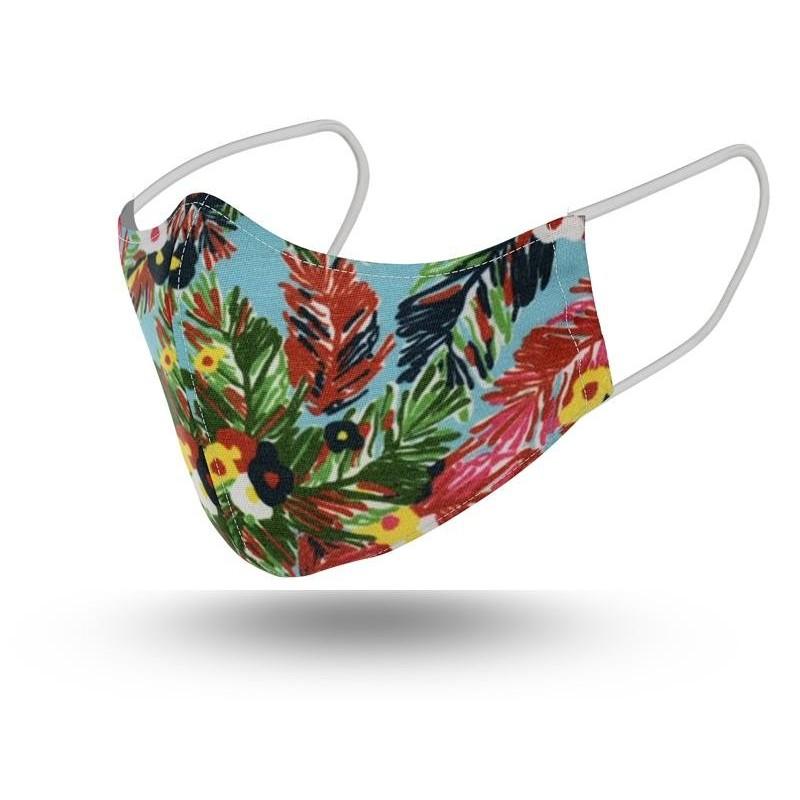 Mascarilla Mujer Reutilizable Tropical 2