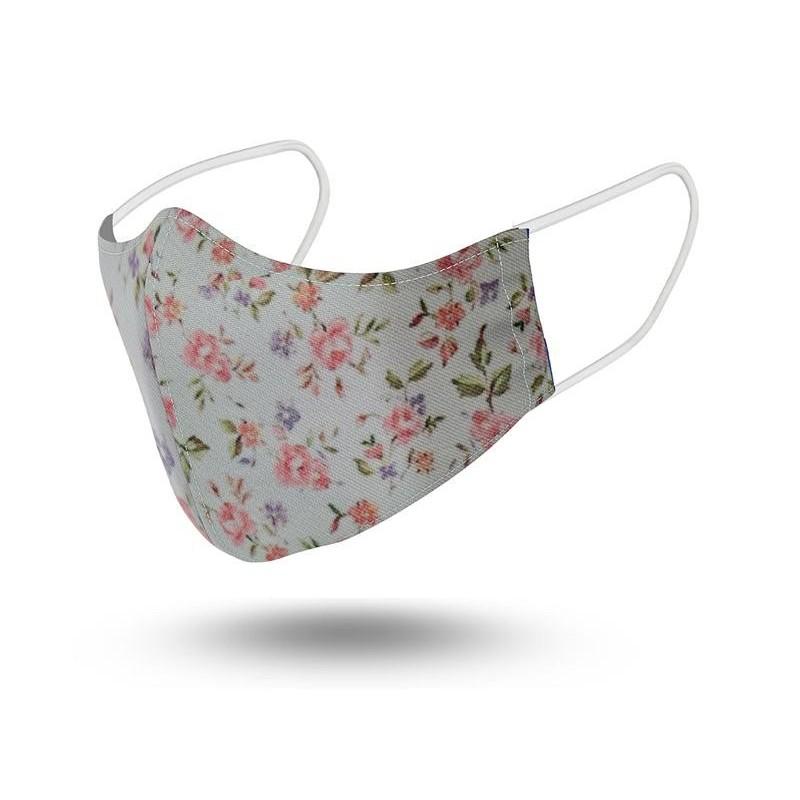 Mascarilla Niños Reutilizable Flower Pink2 Talla 6