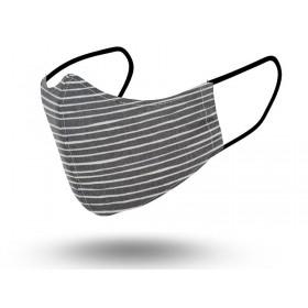 Mascarilla Hombre Reutilizable White Stripe 2