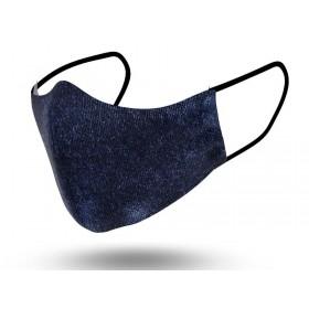 Mascarilla Mujer Reutilizable Velvet Blue 2