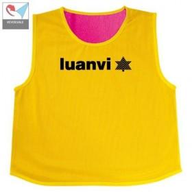 Luanvi Lote 5 Petos Reversibles Campus Yellow-Pink