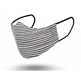 Mascarilla Niños Reutilizable Stripe Black 2 6-9